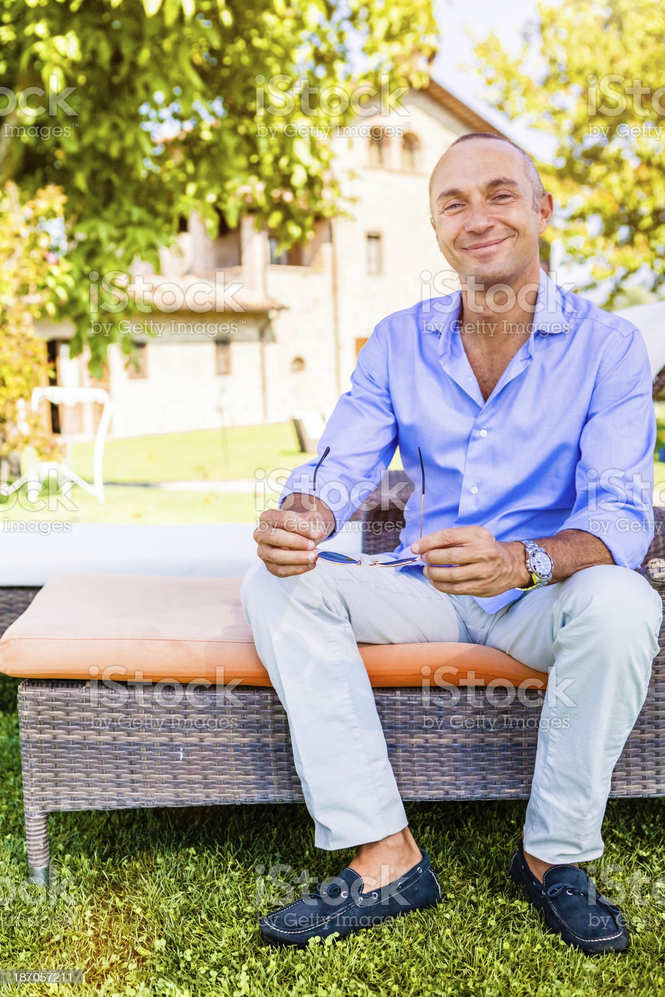 Successful Mature Man, Italian Entrepreneur royalty-free stock photo
