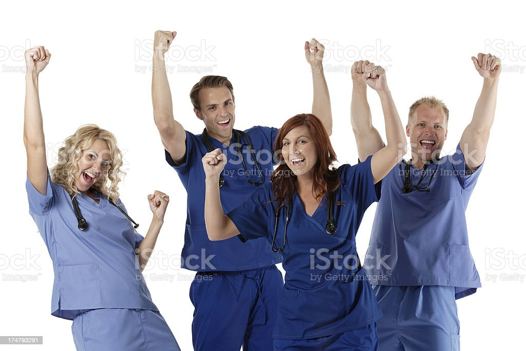 Successful medical professionals royalty-free stock photo