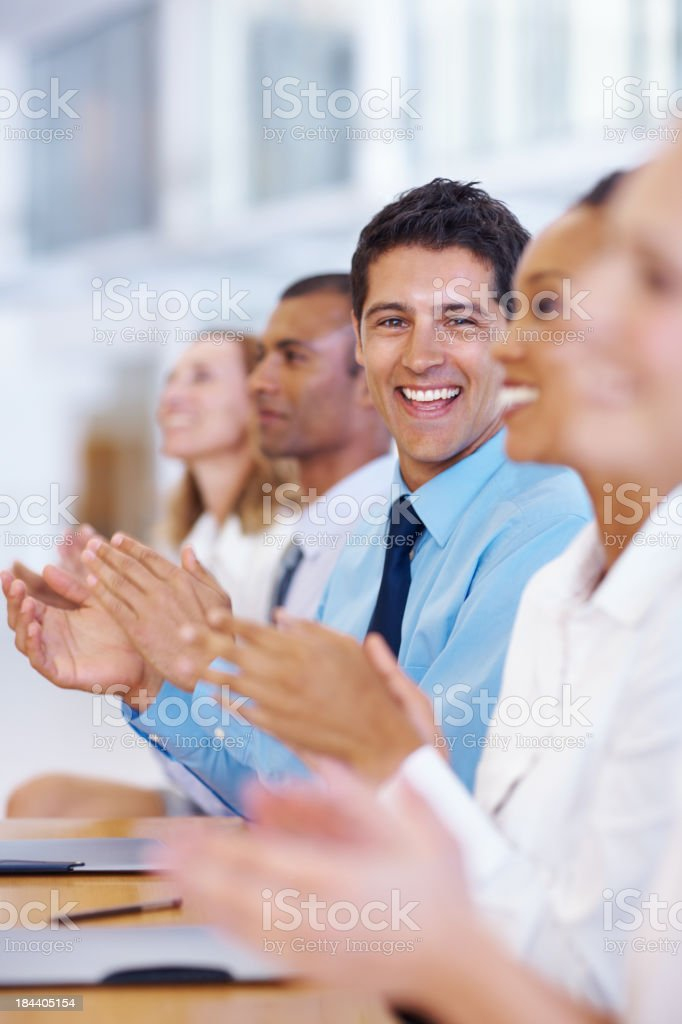 Successful meeting royalty-free stock photo