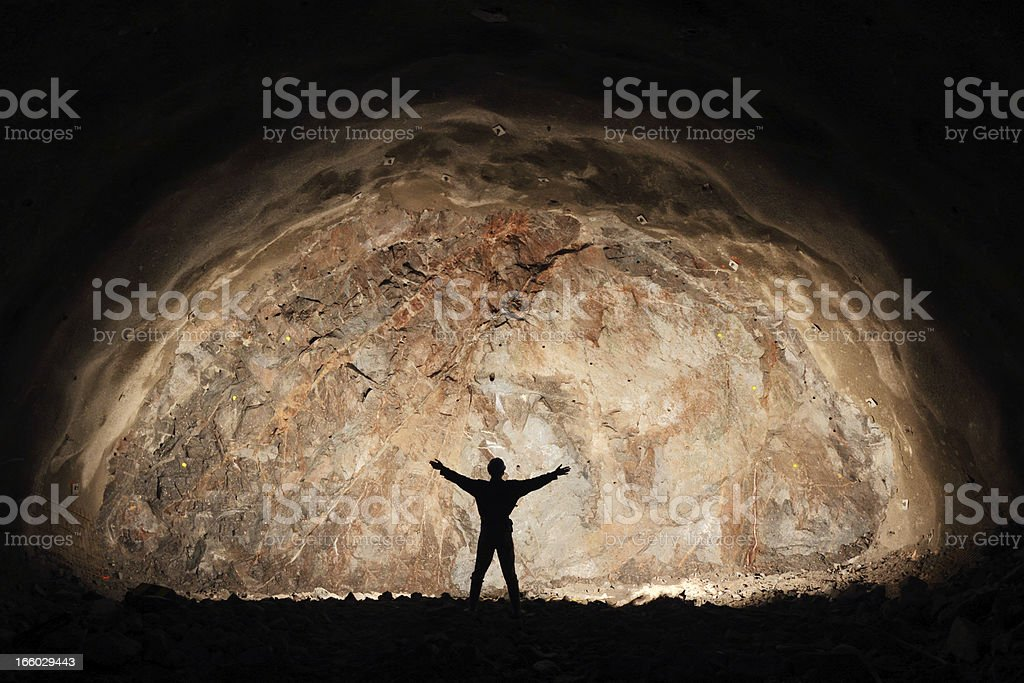 Successful miner royalty-free stock photo