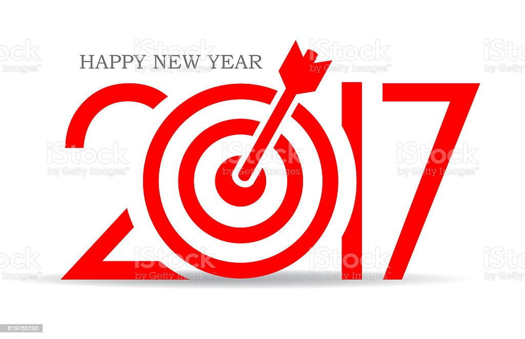 Successful New Year 2017 sign stock photo