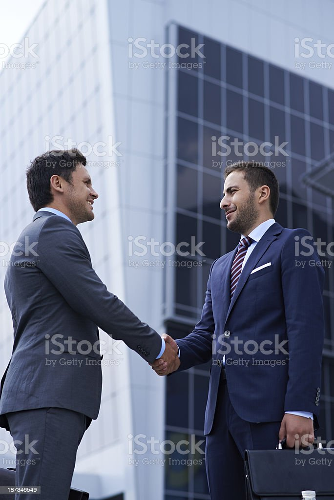 Successful partnership royalty-free stock photo
