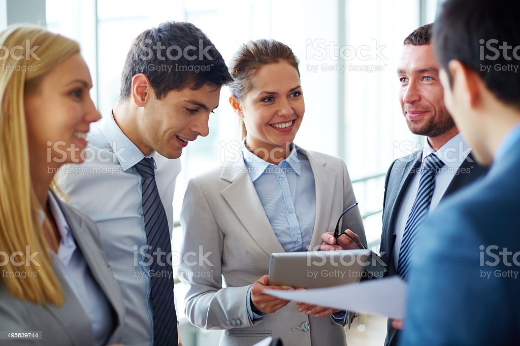 Successful partnership stock photo