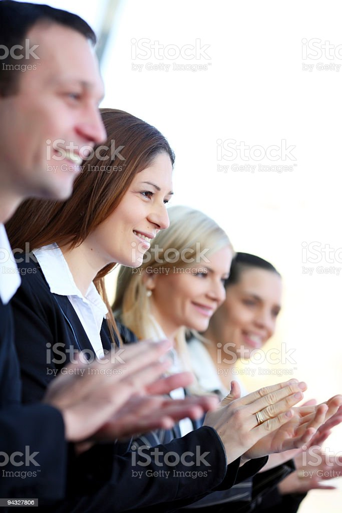 Successful people applauding. royalty-free stock photo