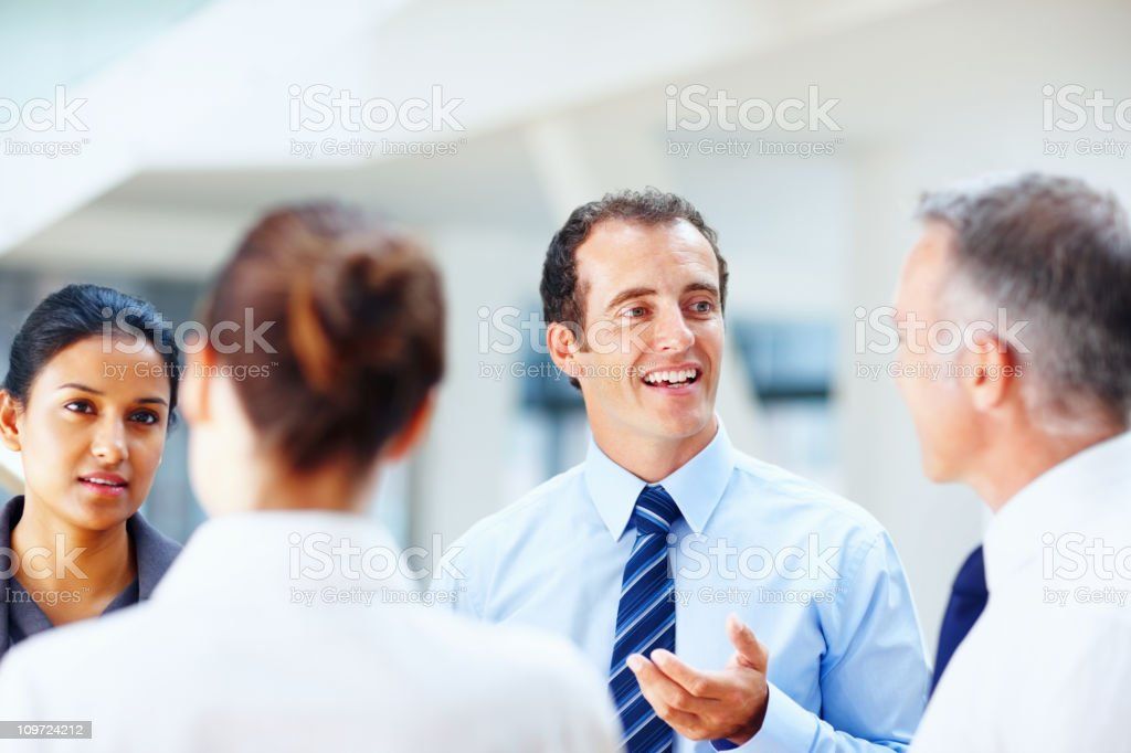 Successful people discussing business issues royalty-free stock photo