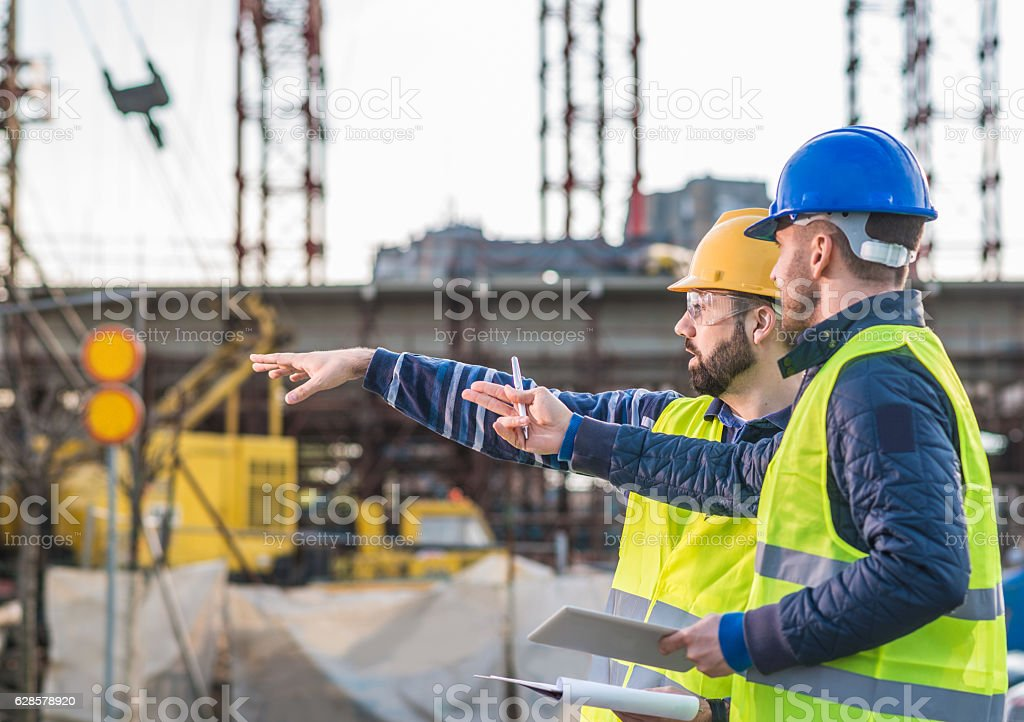 Successful people working on common project stock photo