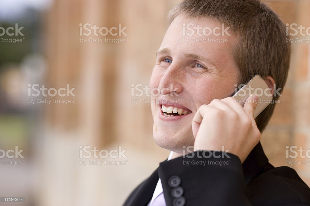 Successful phone call royalty-free stock photo