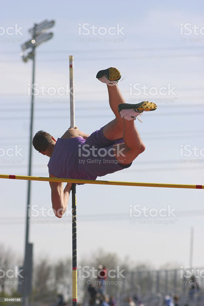 Successful Pole Vault royalty-free stock photo