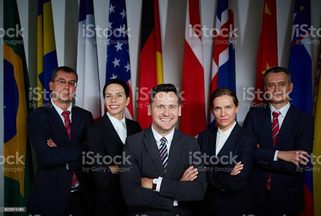 Successful politicians stock photo