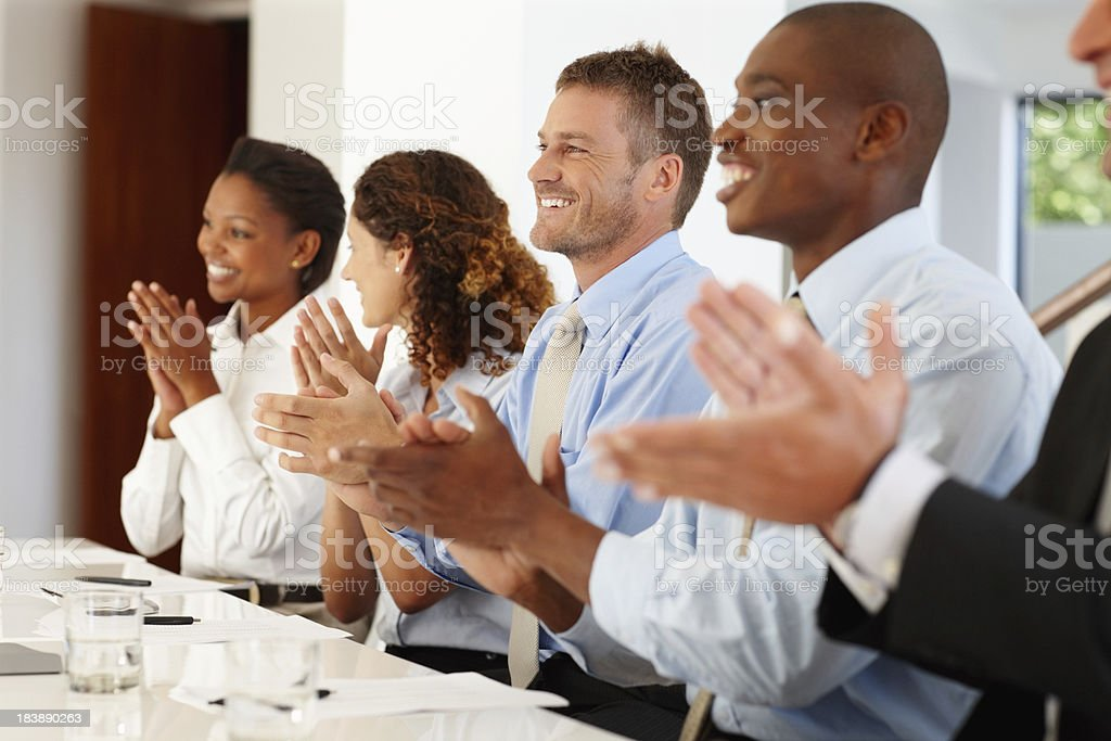 Successful presentation royalty-free stock photo
