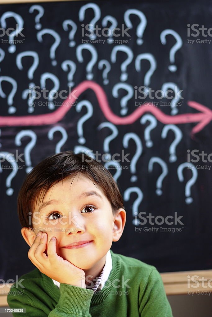 Successful primary school child royalty-free stock photo