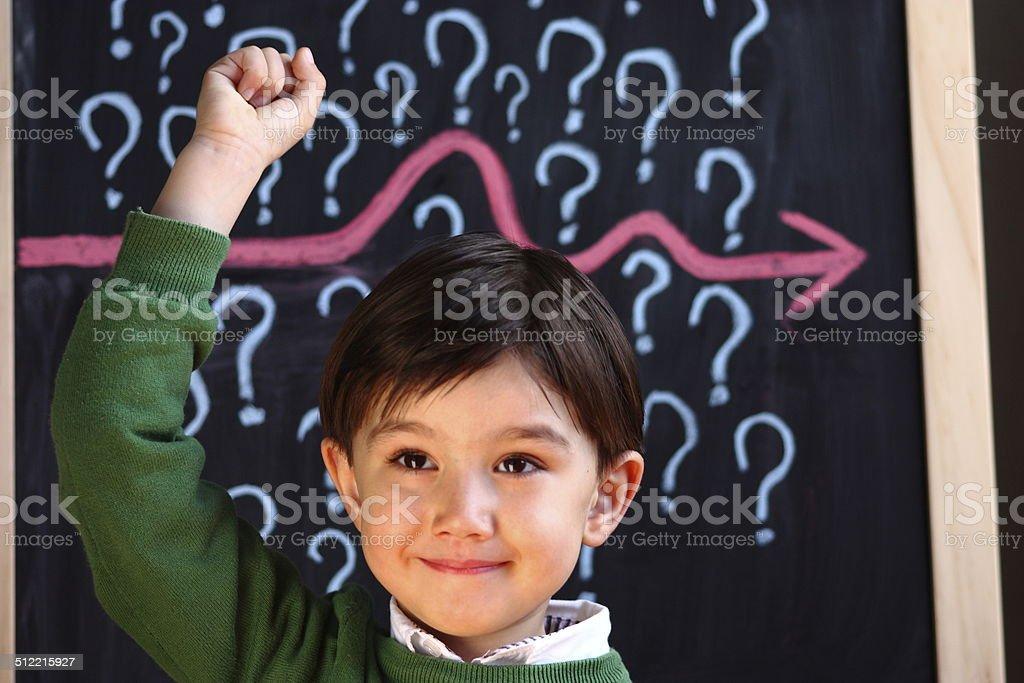 Successful primary school child stock photo