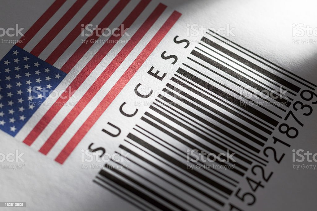 Successful product's barcode royalty-free stock photo