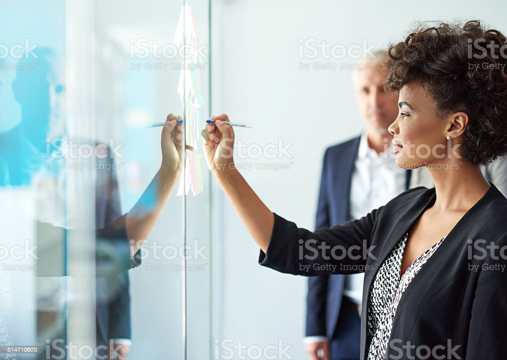 Successful professionals plan ahead stock photo