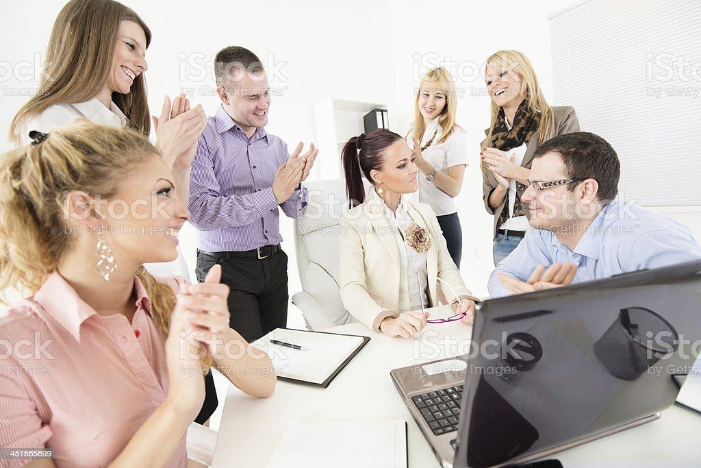 Successful project stock photo