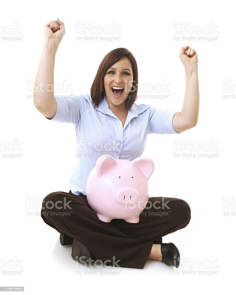 Successful Saving royalty-free stock photo