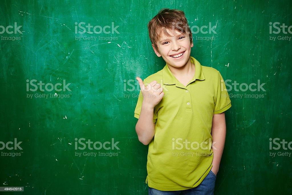 Successful schoolkid stock photo