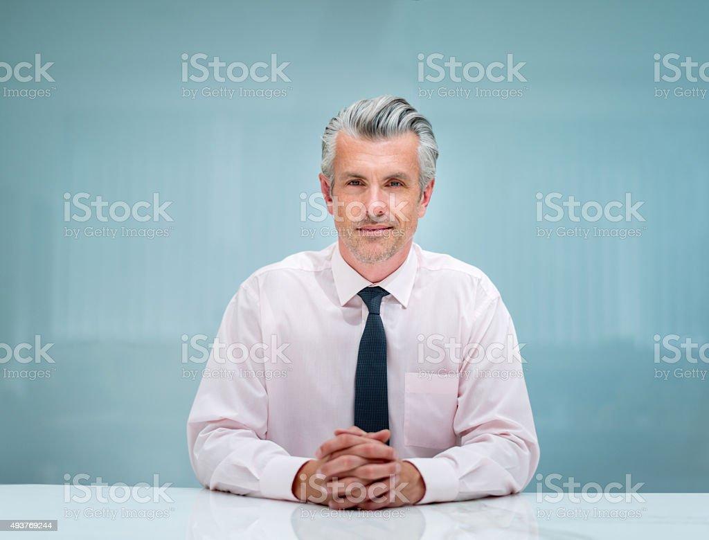 Successful senior business man stock photo
