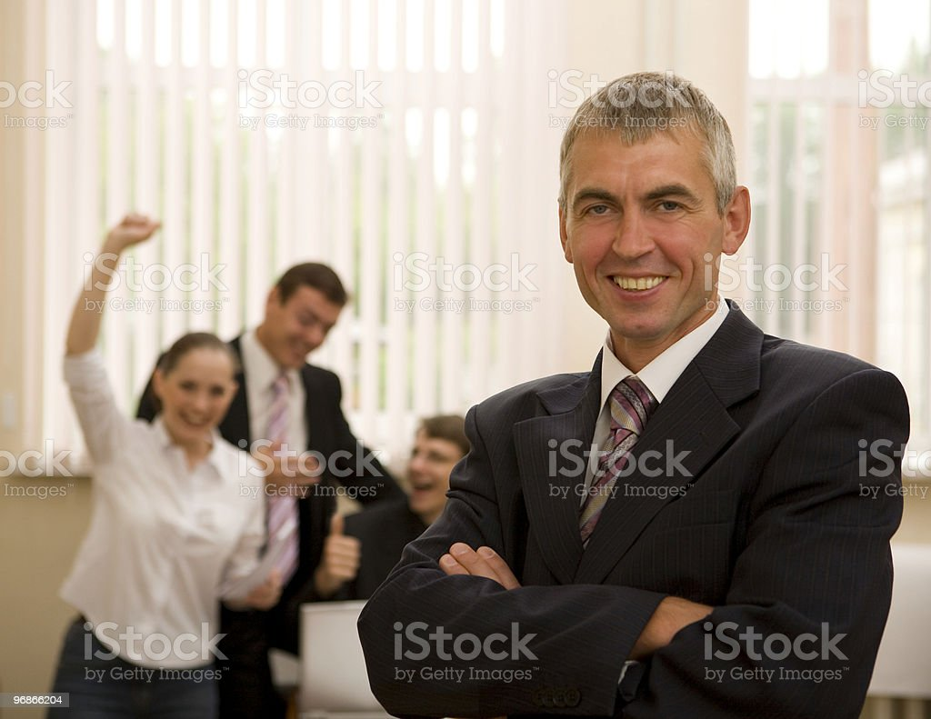 Successful  senior businessman with his teamwork. royalty-free stock photo