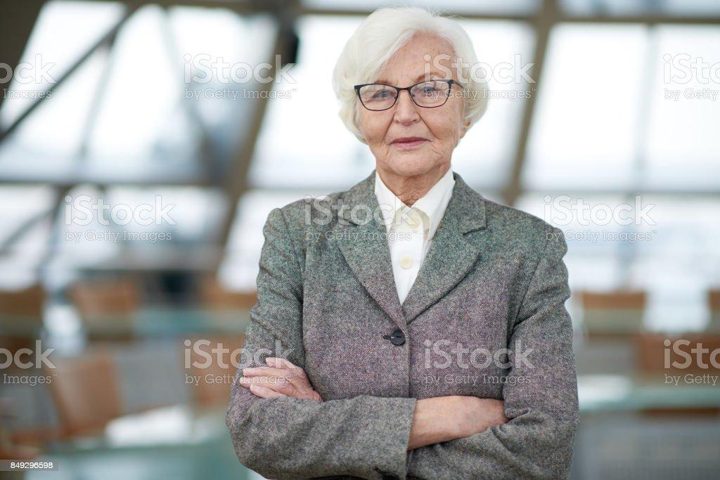 Successful senior entrepreneur stock photo