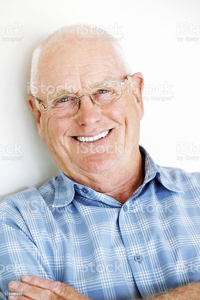 Successful senior guy smiling at you royalty-free stock photo