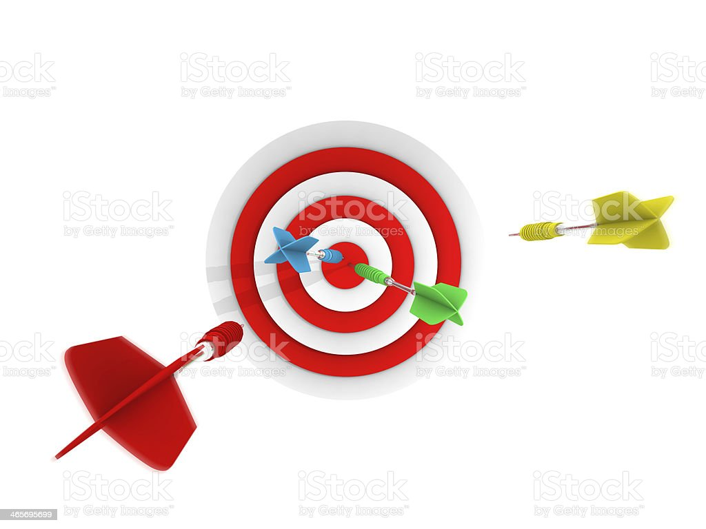 Successful Shootout Goal to Dart royalty-free stock photo