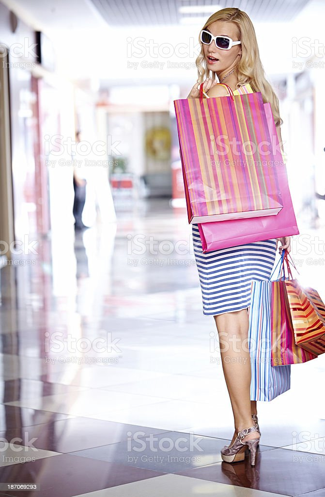 Successful shopping day royalty-free stock photo