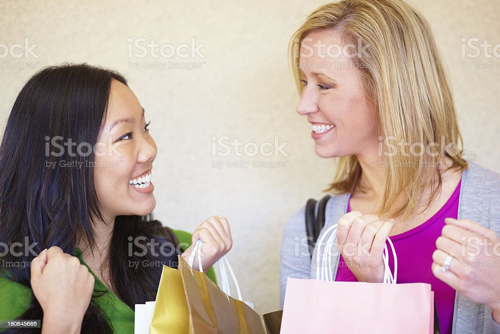 Successful shopping royalty-free stock photo