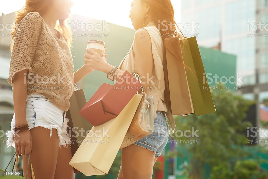 Successful shopping stock photo