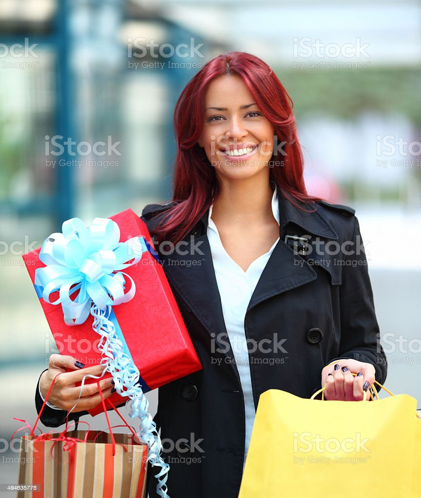 Successful shopping. stock photo