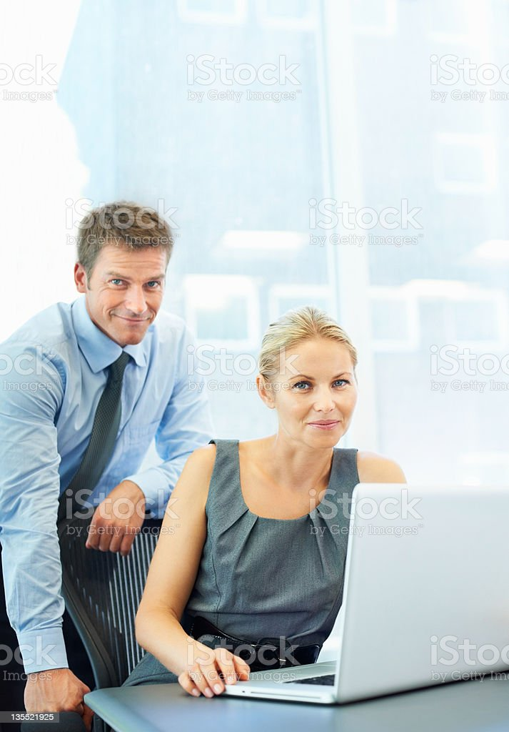 Successful smiles royalty-free stock photo