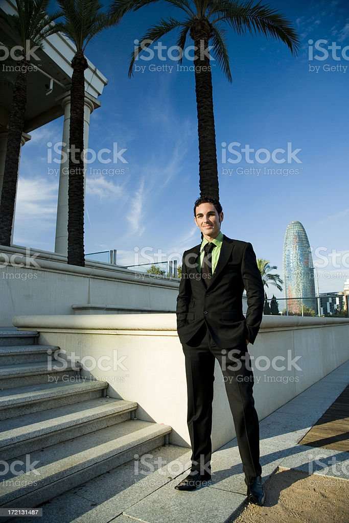 successful smiling business man royalty-free stock photo