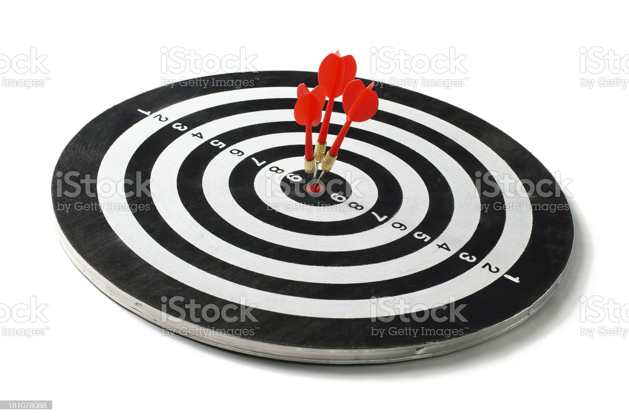 Successful Target royalty-free stock photo