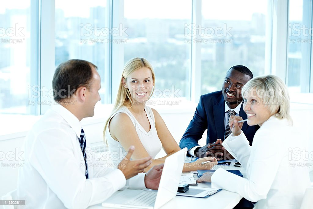 Successful team at meeting royalty-free stock photo
