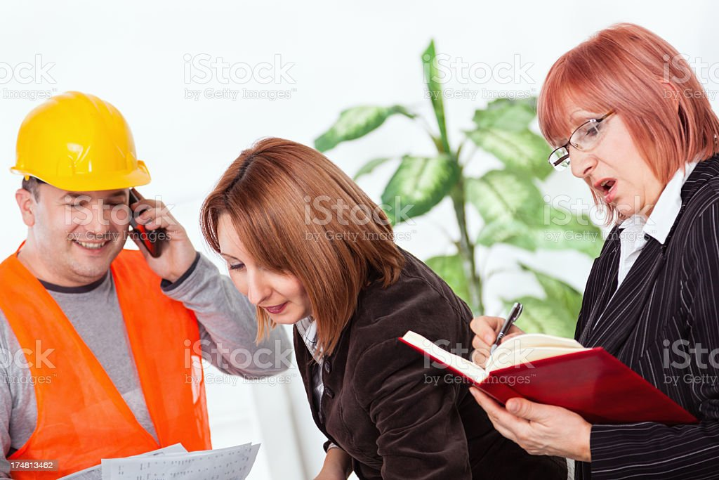 Successful team of architects royalty-free stock photo