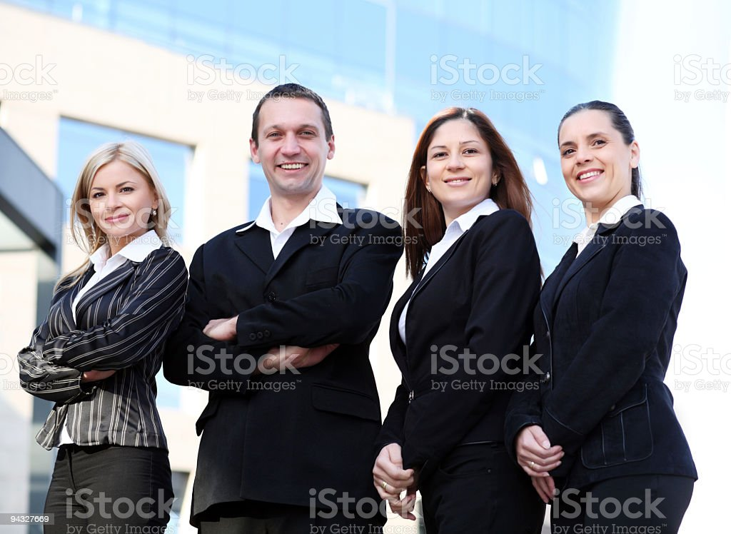 Successful team of business people. royalty-free stock photo
