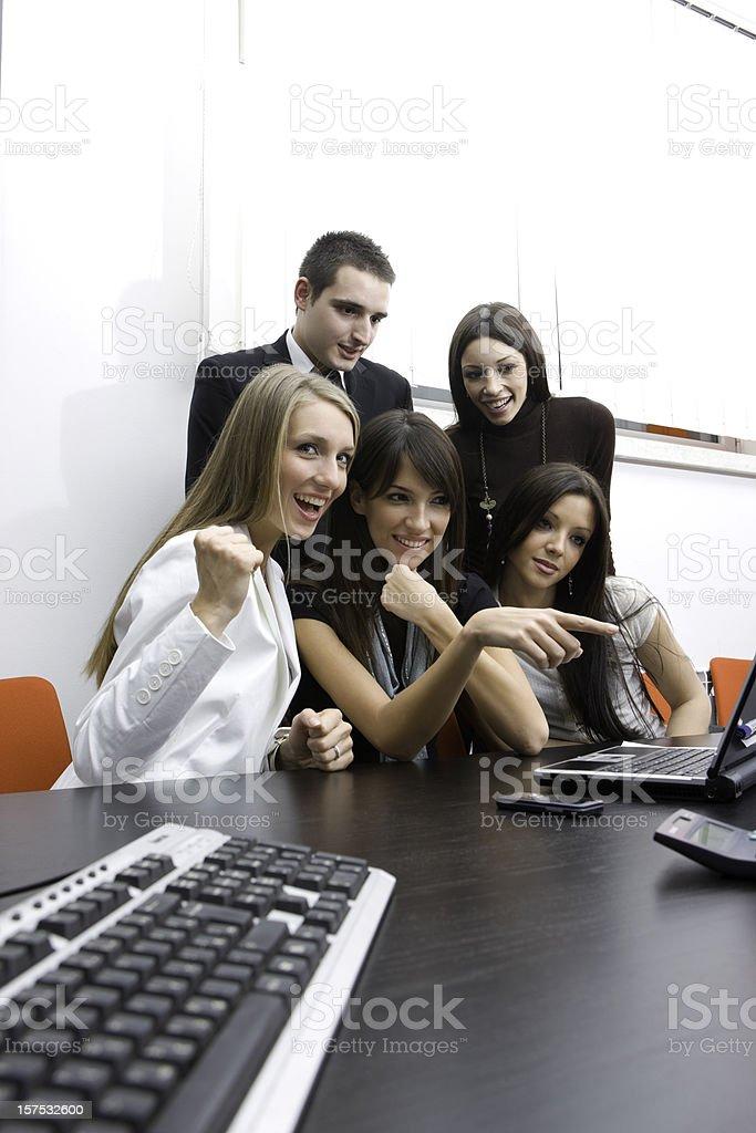 Successful teamwork stock photo