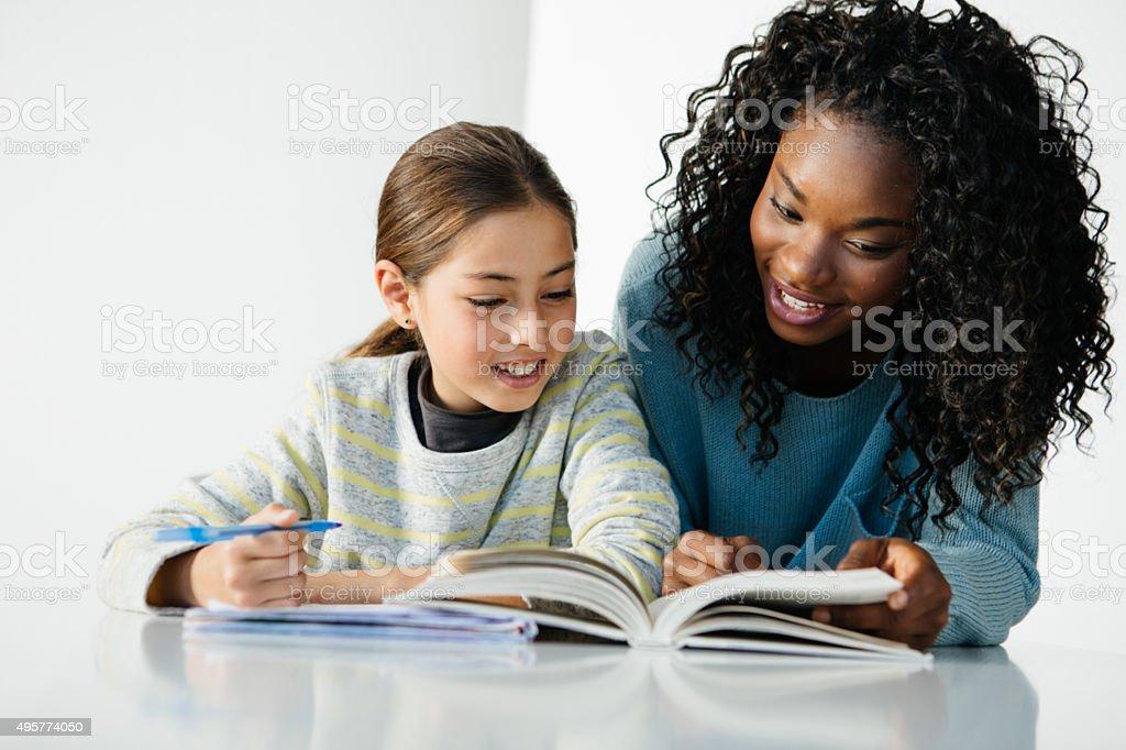 Successful tutoring stock photo