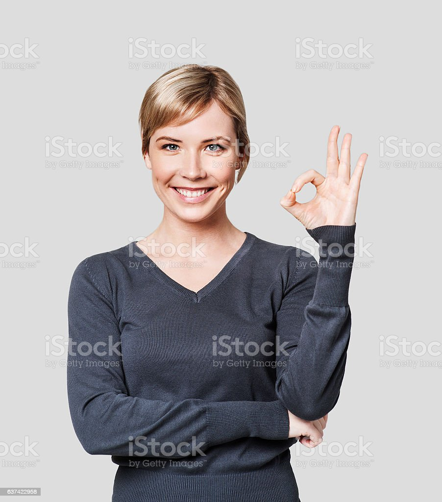 successful w showing okay gesture stock photo istock successful w showing okay gesture royalty stock photo