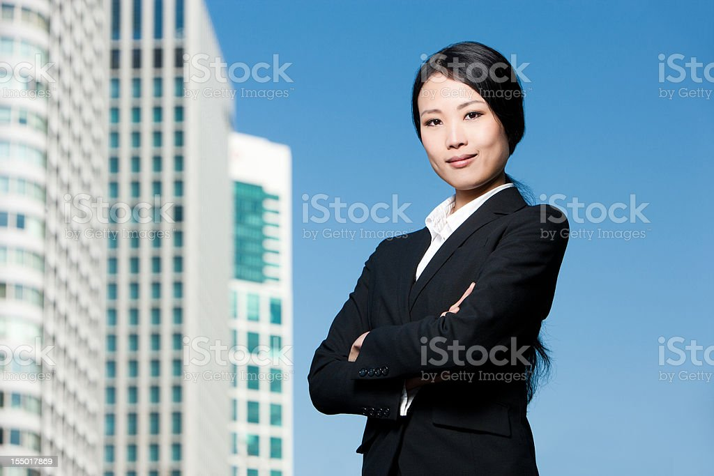 Successful Young Asian Businesswoman royalty-free stock photo