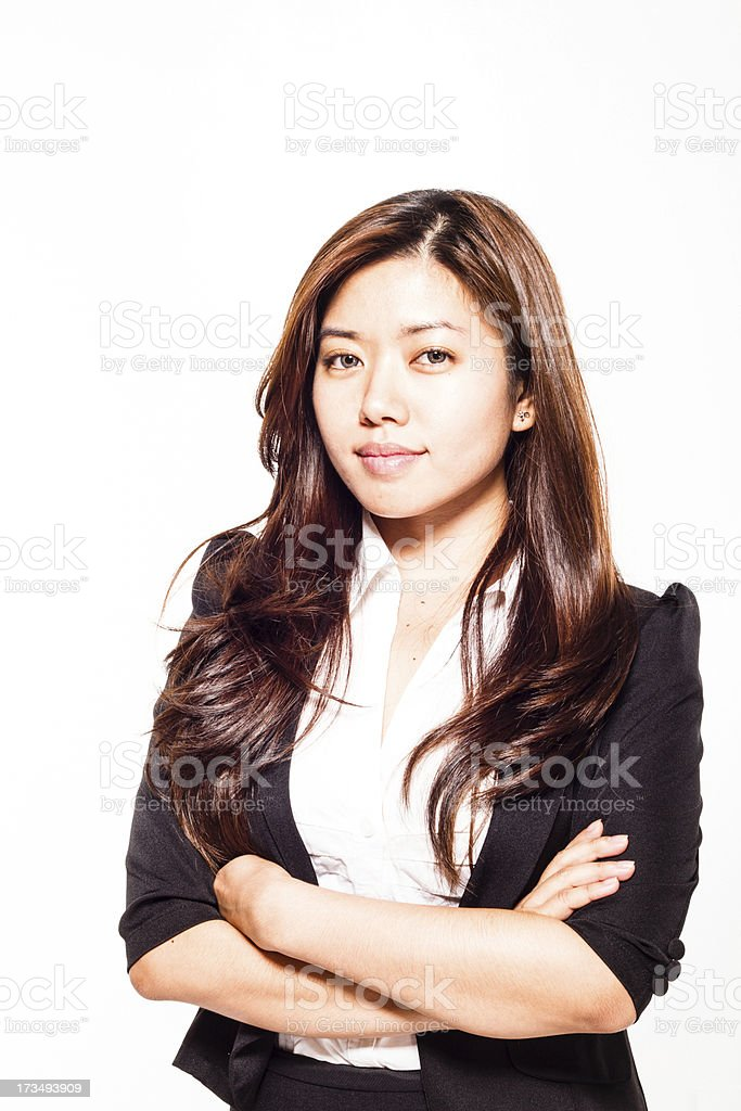successful young asian businesswoman stock photo