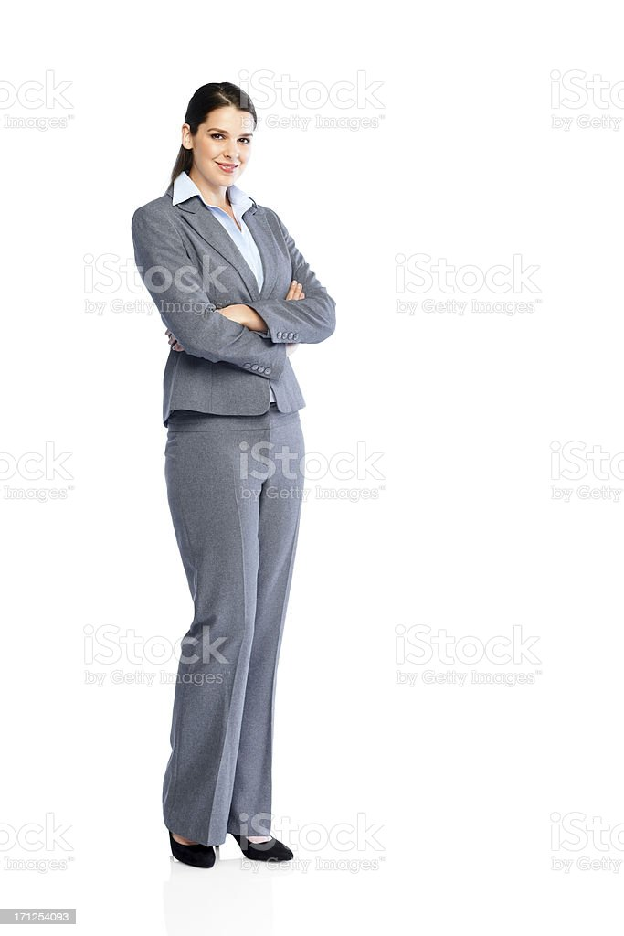 Successful young business woman on white royalty-free stock photo