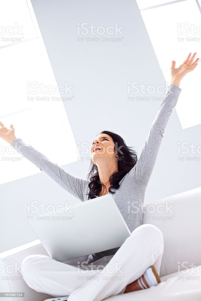 successful young girl royalty-free stock photo