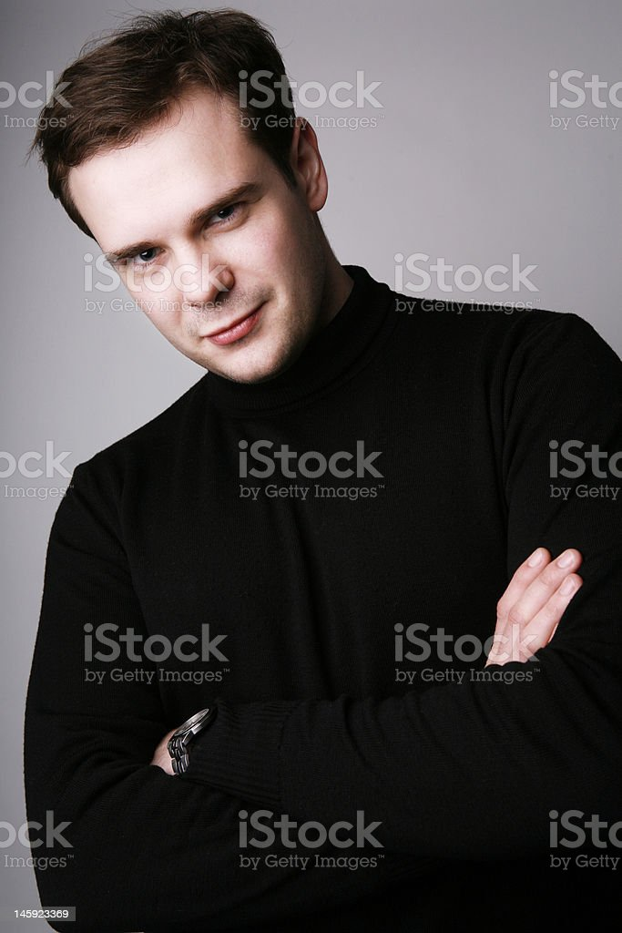 Successful young man royalty-free stock photo