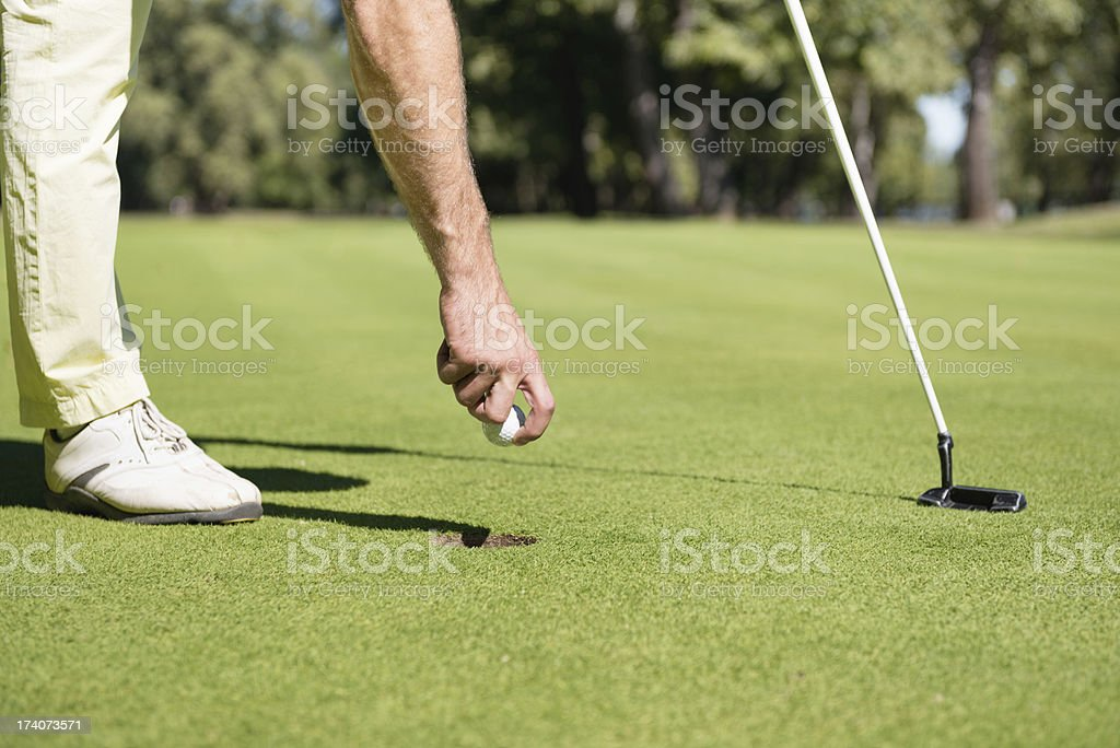 Successfull putting shot royalty-free stock photo