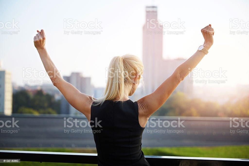 Successfull woman stock photo