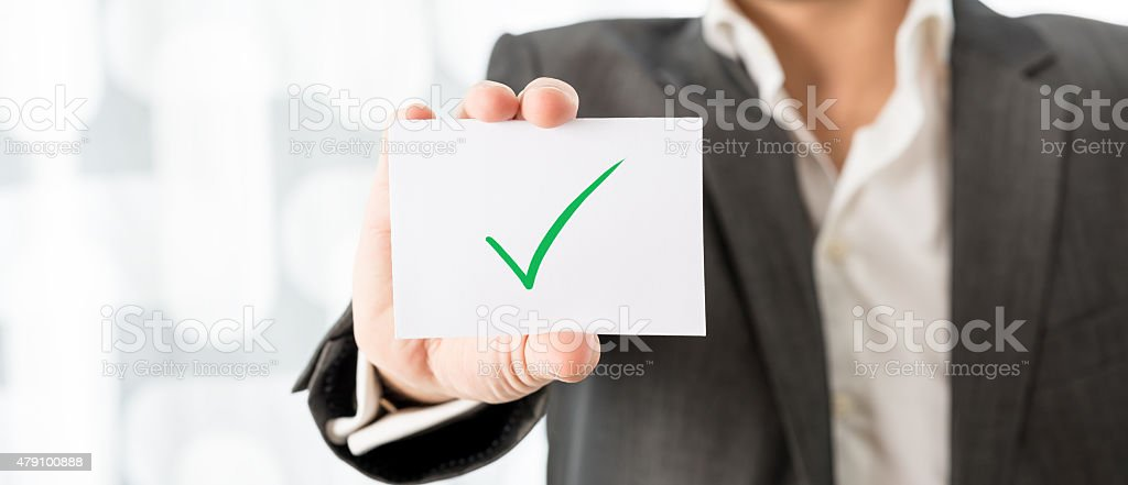Successfully completed task stock photo