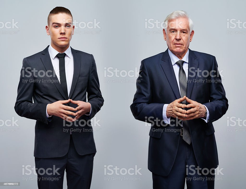 Succession of generations stock photo