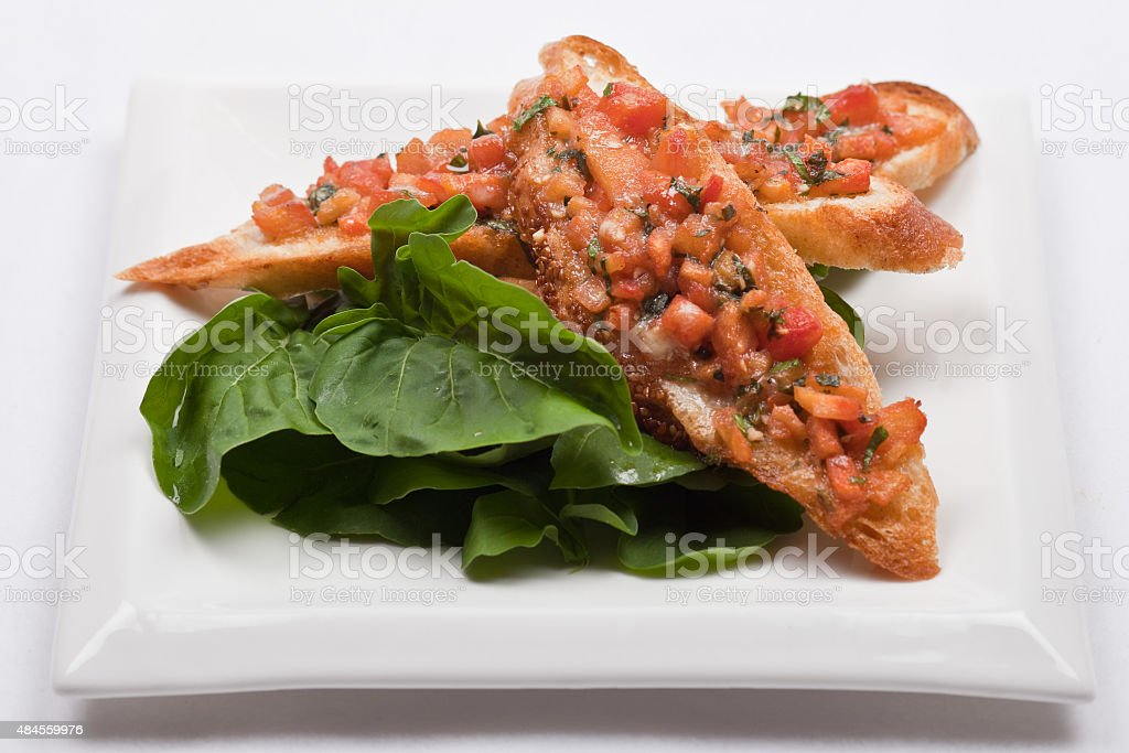 Succulent garlic bread stock photo