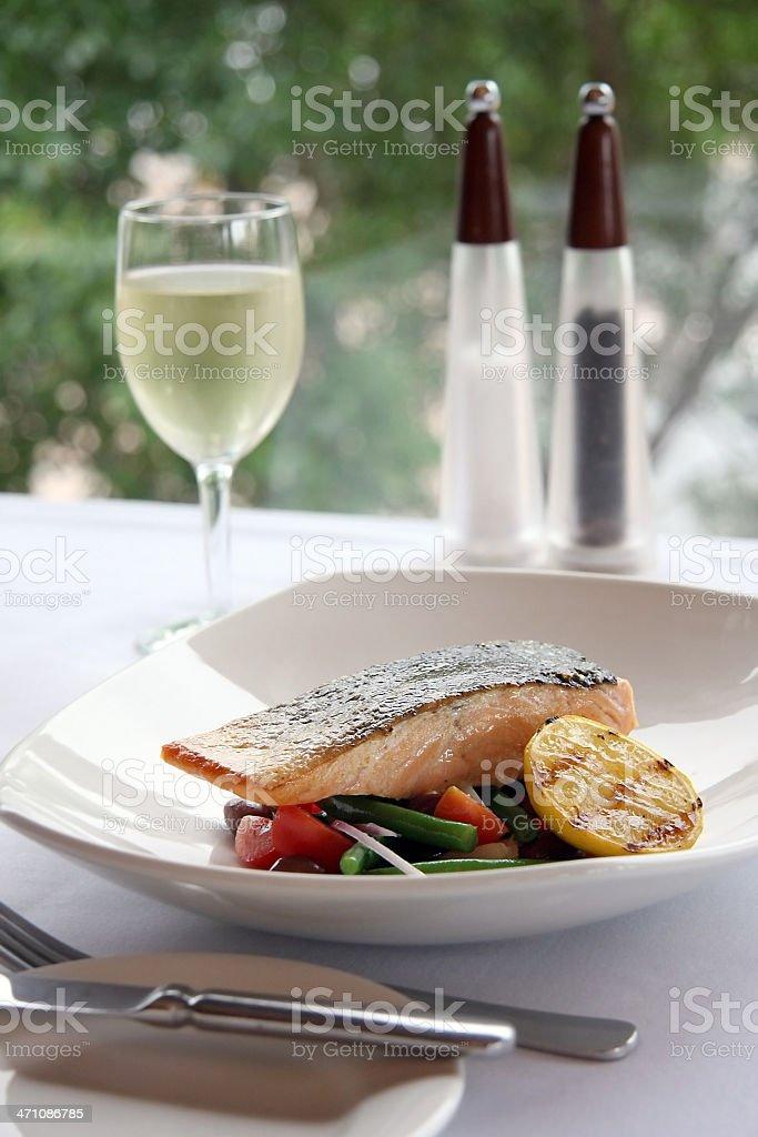 Succulent Salmon royalty-free stock photo